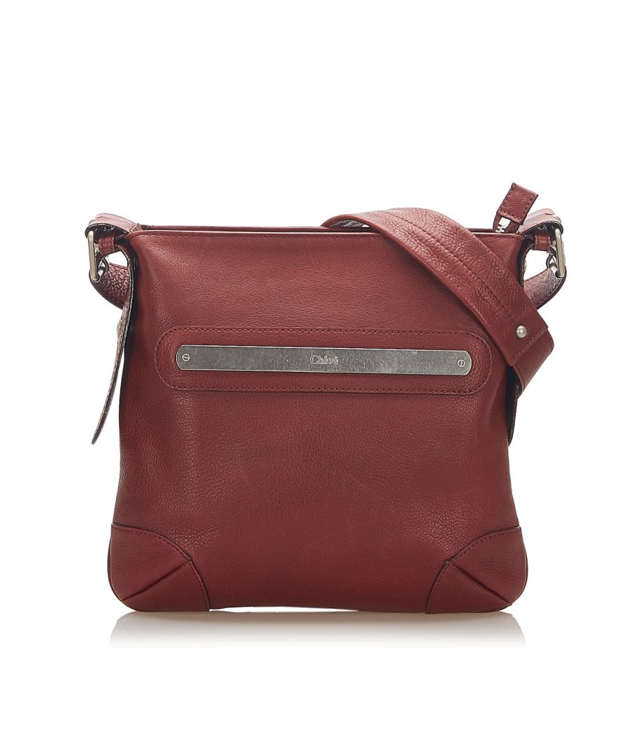 Image for Vintage Chloe Leather Crossbody Bag Red