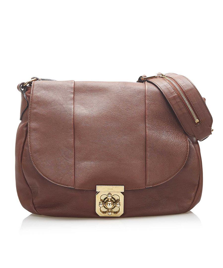 Image for Vintage Chloe Elsie Leather Shoulder Bag Brown