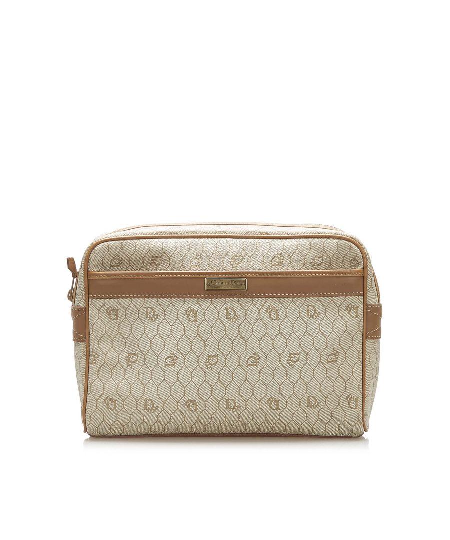 Image for Vintage Dior Honeycomb Clutch Bag Brown