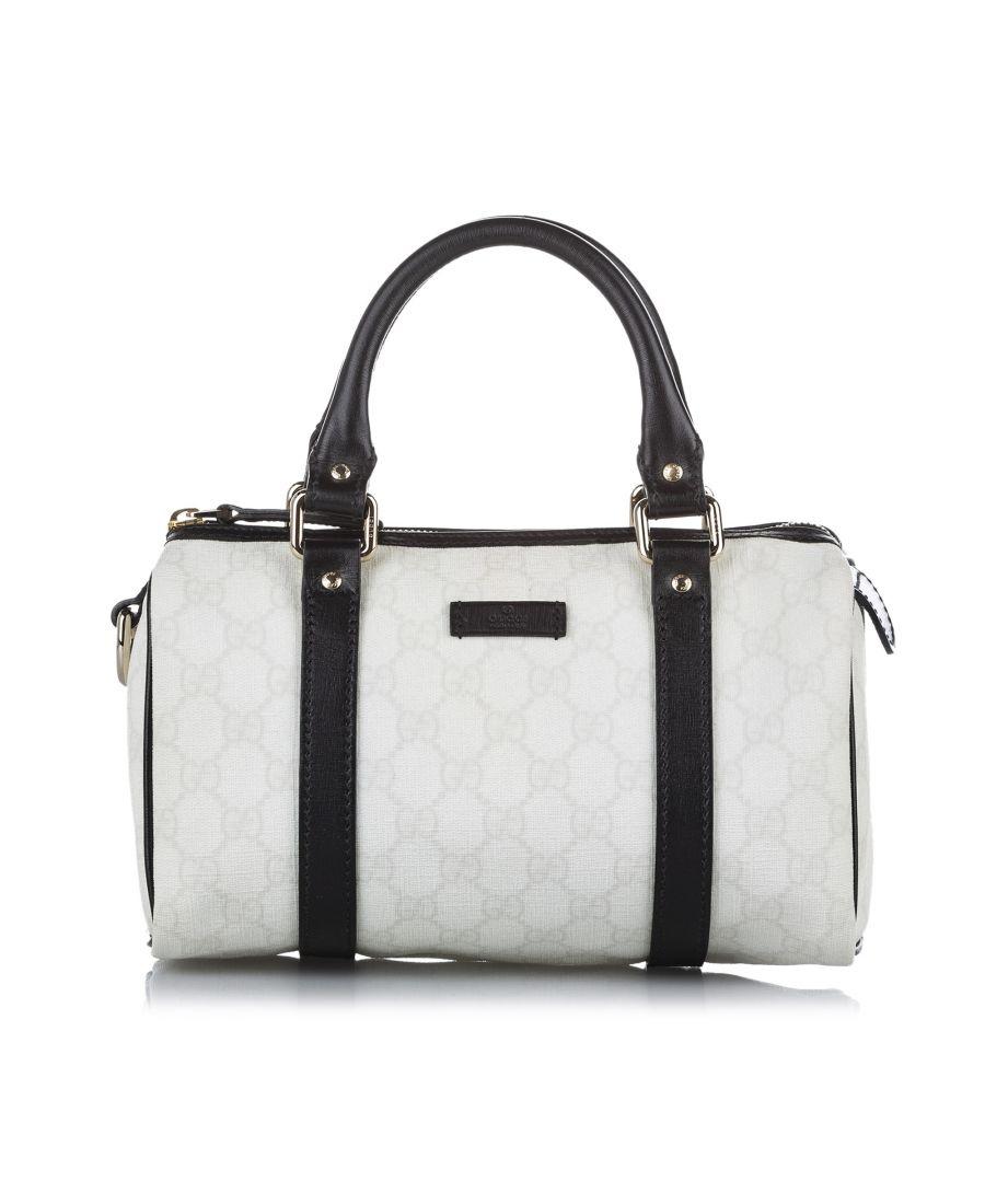 Image for Vintage Gucci GG Joy Boston Bag White