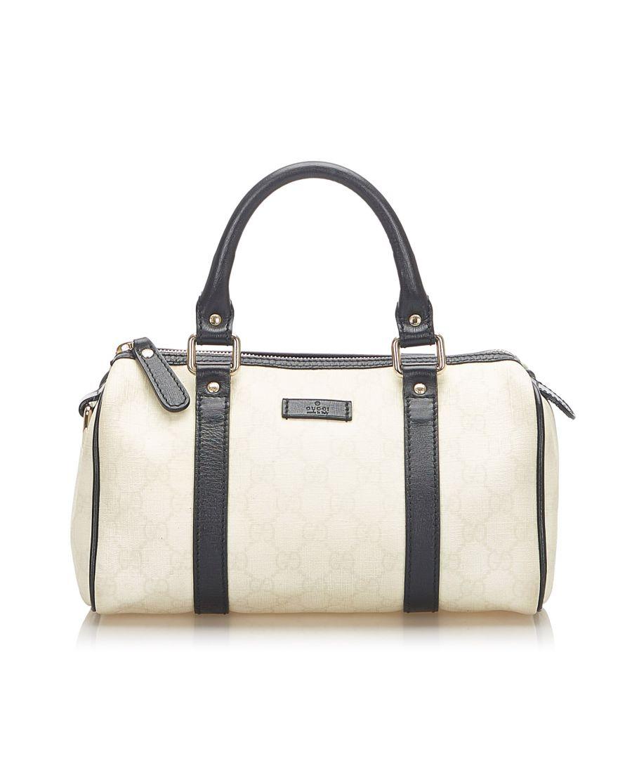 Image for Vintage Gucci GG Supreme Joy Boston Bag White