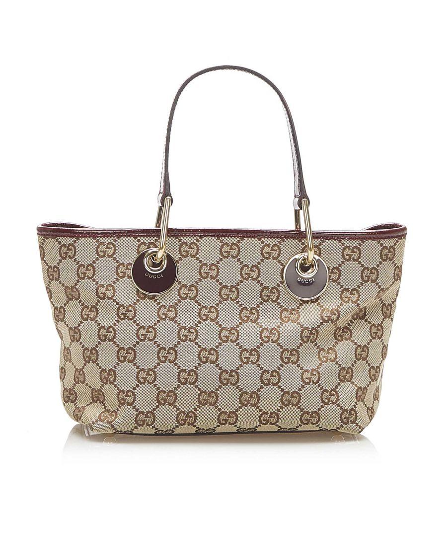 Image for Vintage Gucci GG Canvas Eclipse Handbag Brown