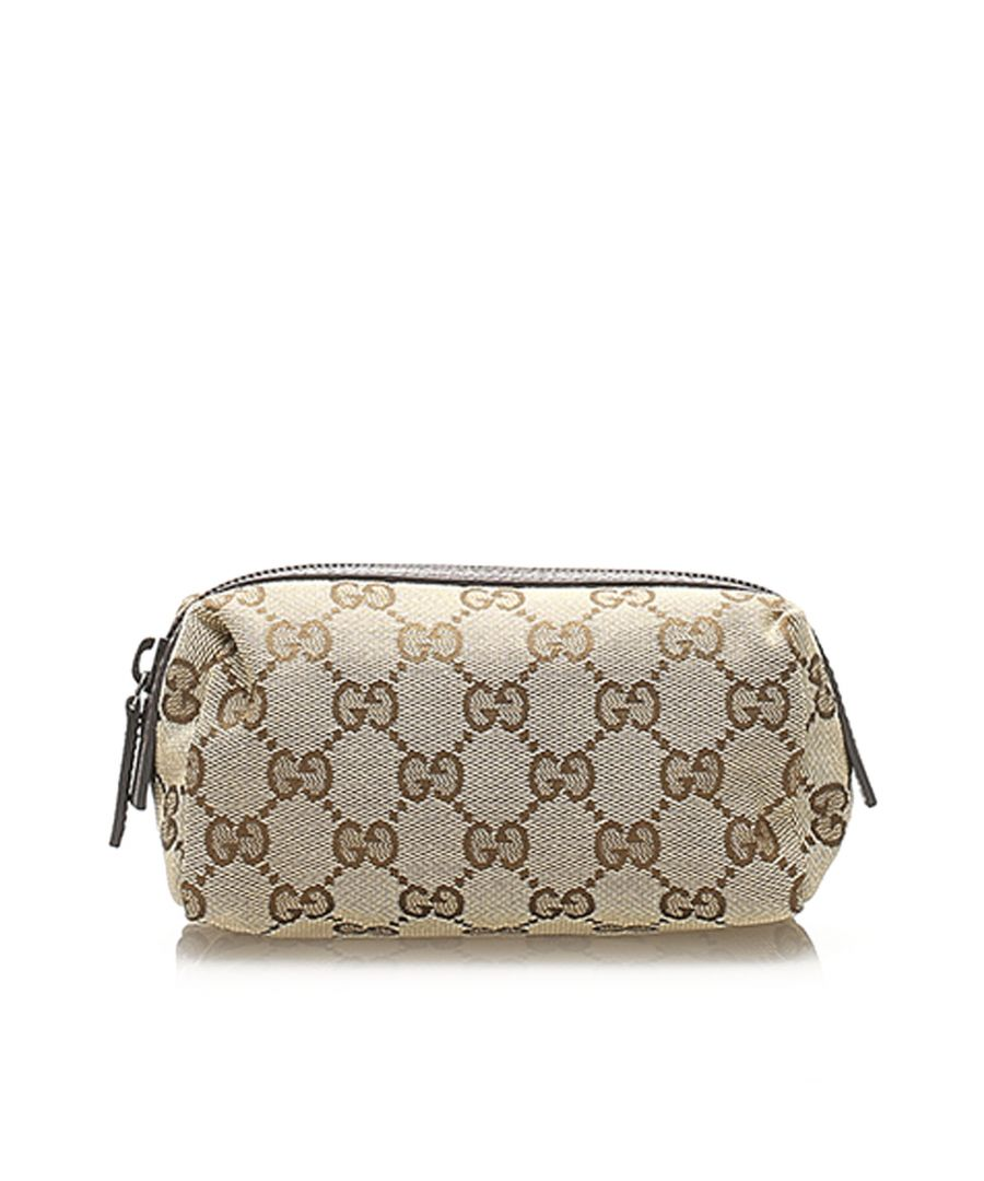 Image for Vintage Gucci GG Canvas Pouch Brown