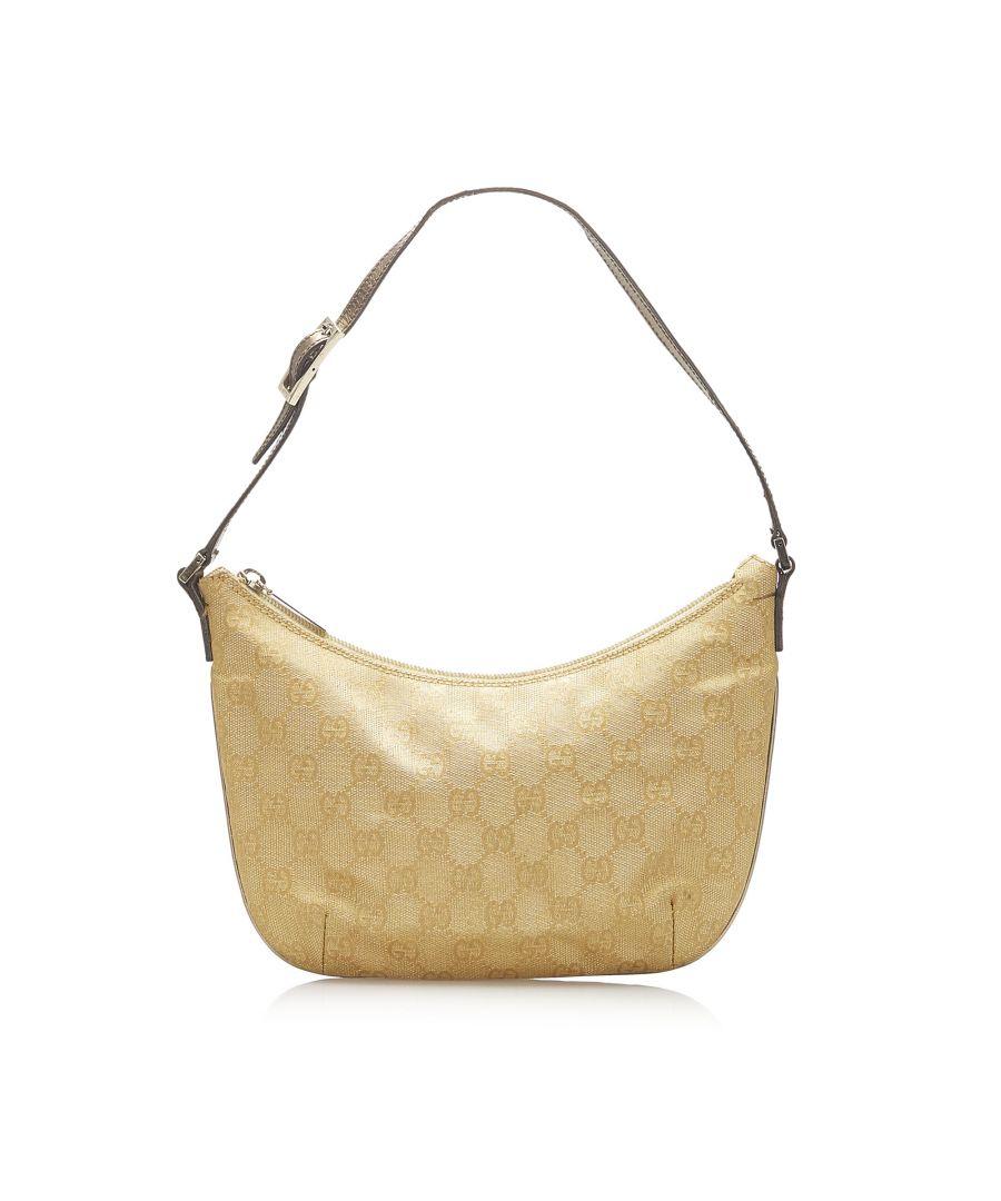 Image for Vintage Gucci GG Canvas Shoulder Bag Gold