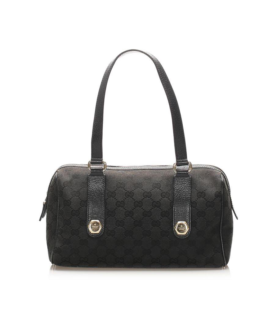 Image for Vintage Gucci GG Canvas Charmy Shoulder Bag Black