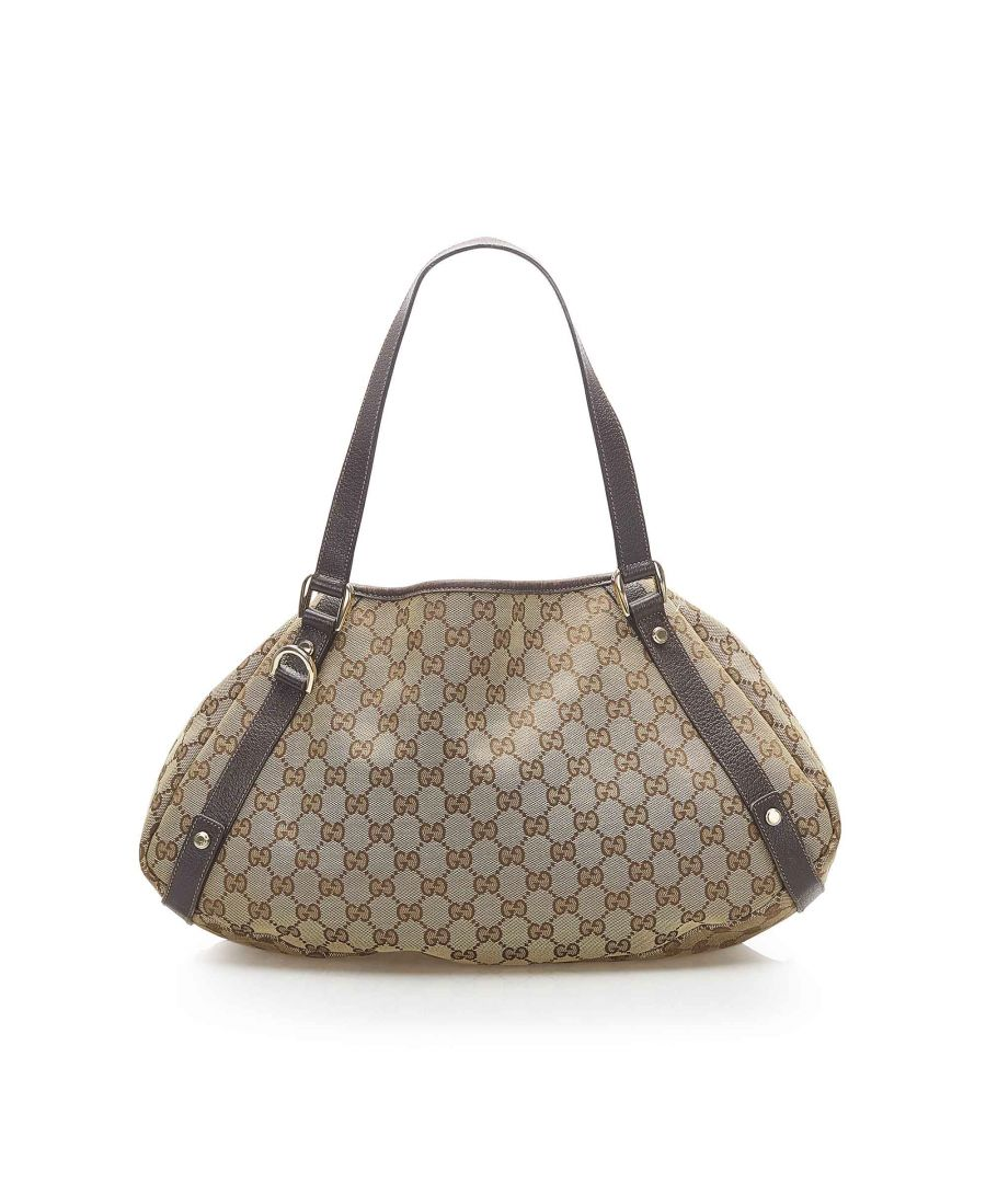 Image for Vintage Gucci GG Canvas Pelham Shoulder Bag Brown