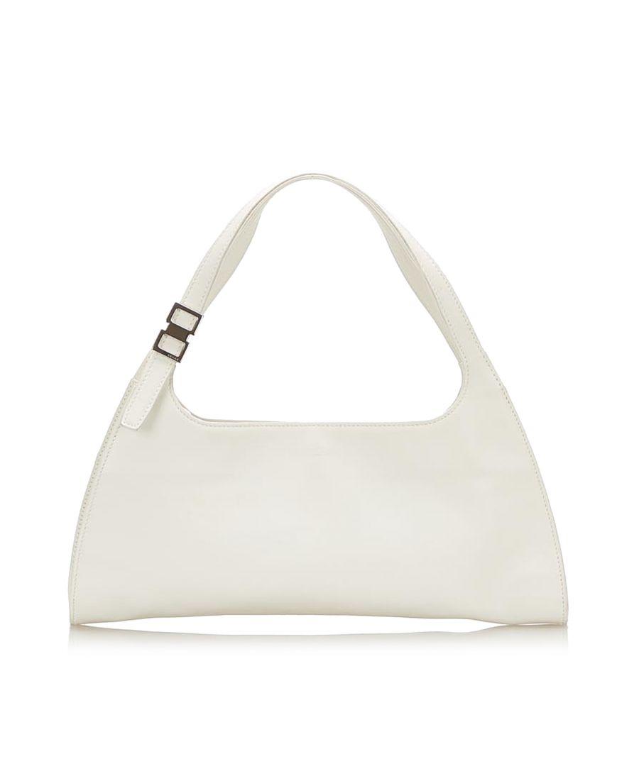 Image for Vintage Gucci Leather Handbag White