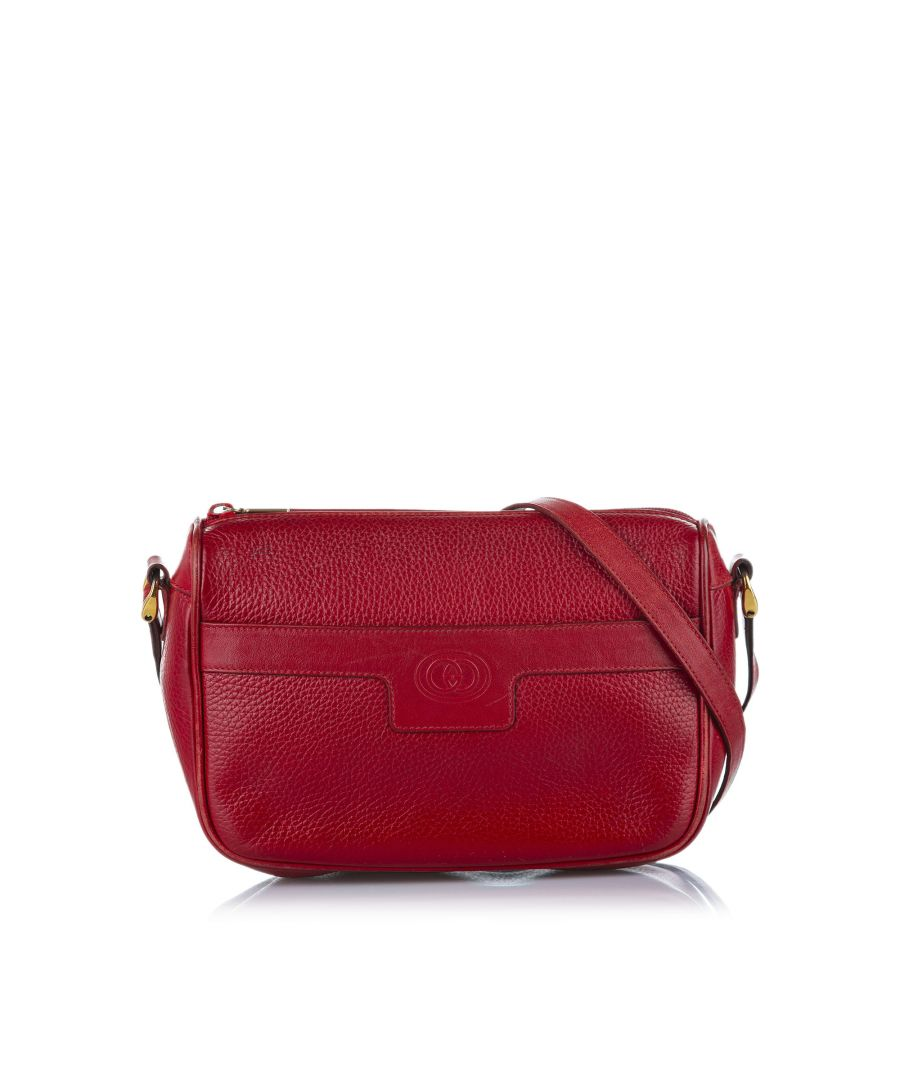 Image for Vintage Gucci Leather Crossbody Bag Red