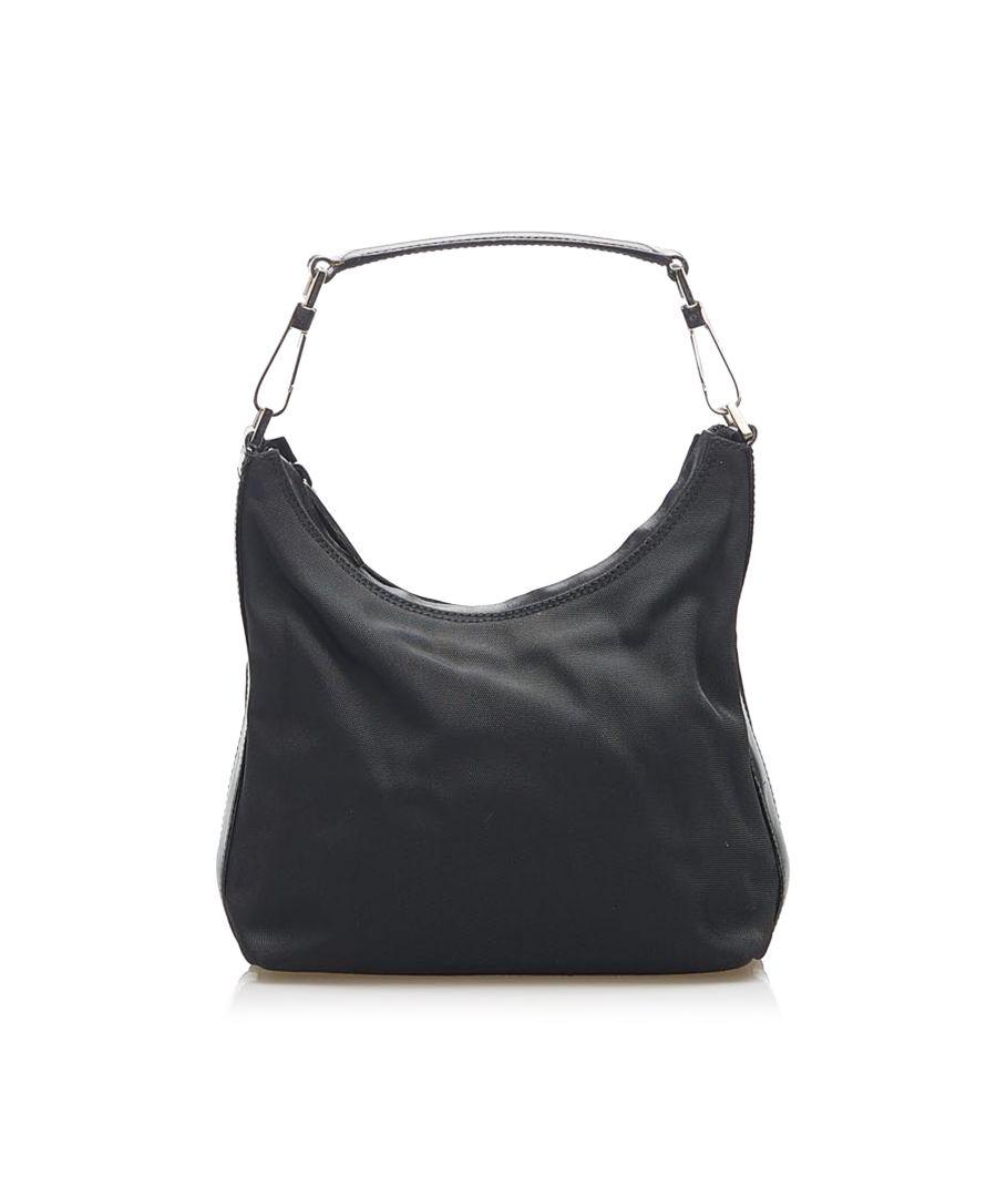Image for Vintage Gucci Nylon Shoulder Bag Black