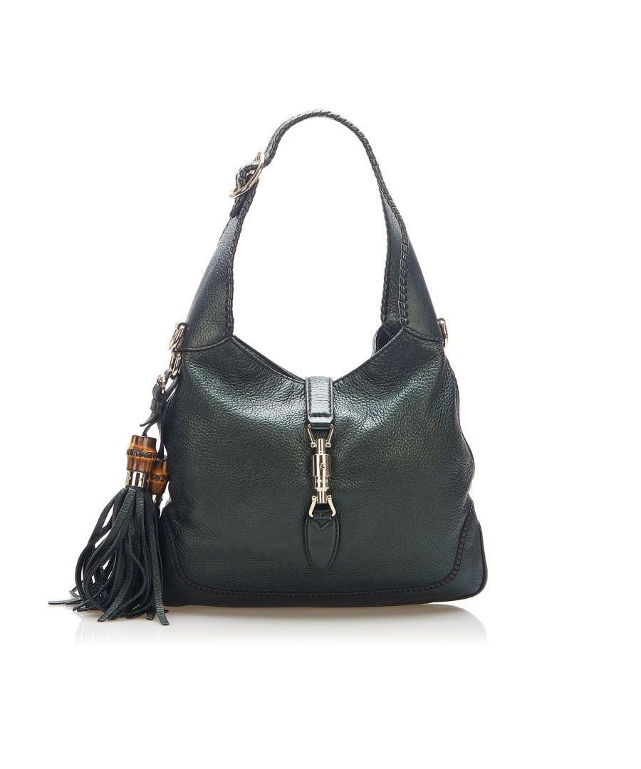 Image for Vintage Gucci New Jackie Leather Satchel Black
