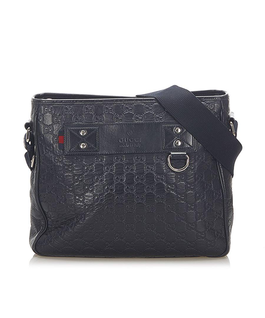 Image for Vintage Gucci Guccissima Crossbody Bag Black