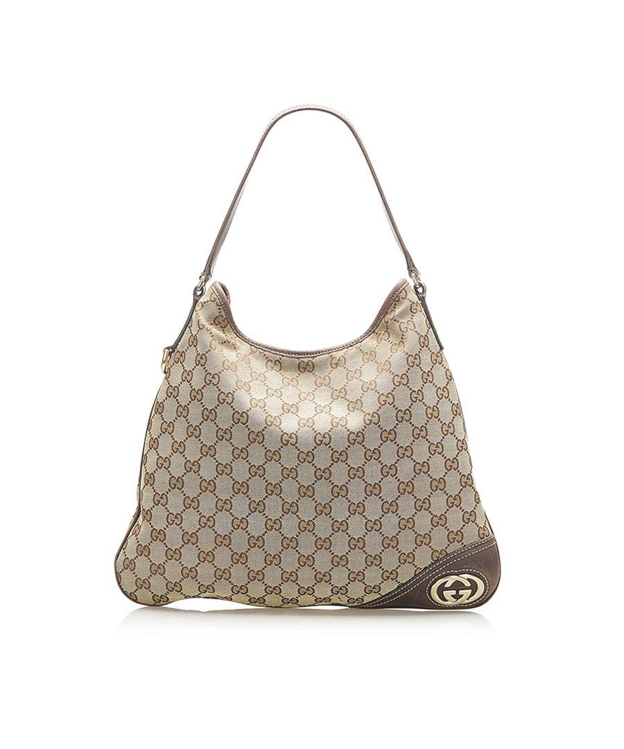 Image for Vintage Gucci Interlocking G Hobo Bag Brown