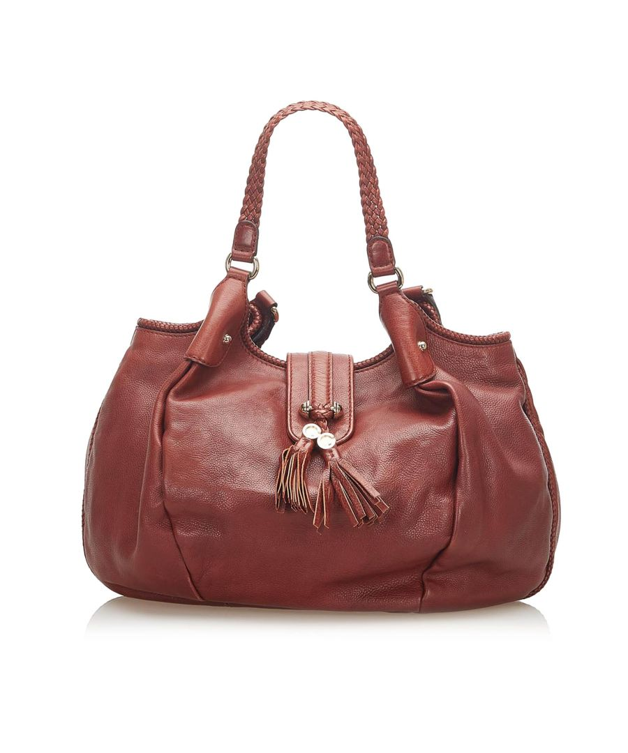 Image for Vintage Gucci Marrakech Leather Hobo Bag Red