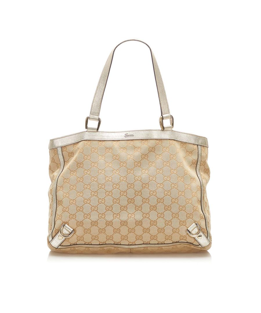 Image for Vintage Gucci GG Canvas Abbey D- Ring Tote Bag Brown