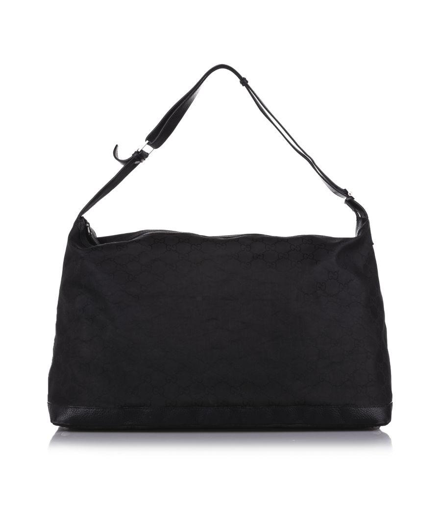 Image for Vintage Gucci GG Nylon Travel Bag Black