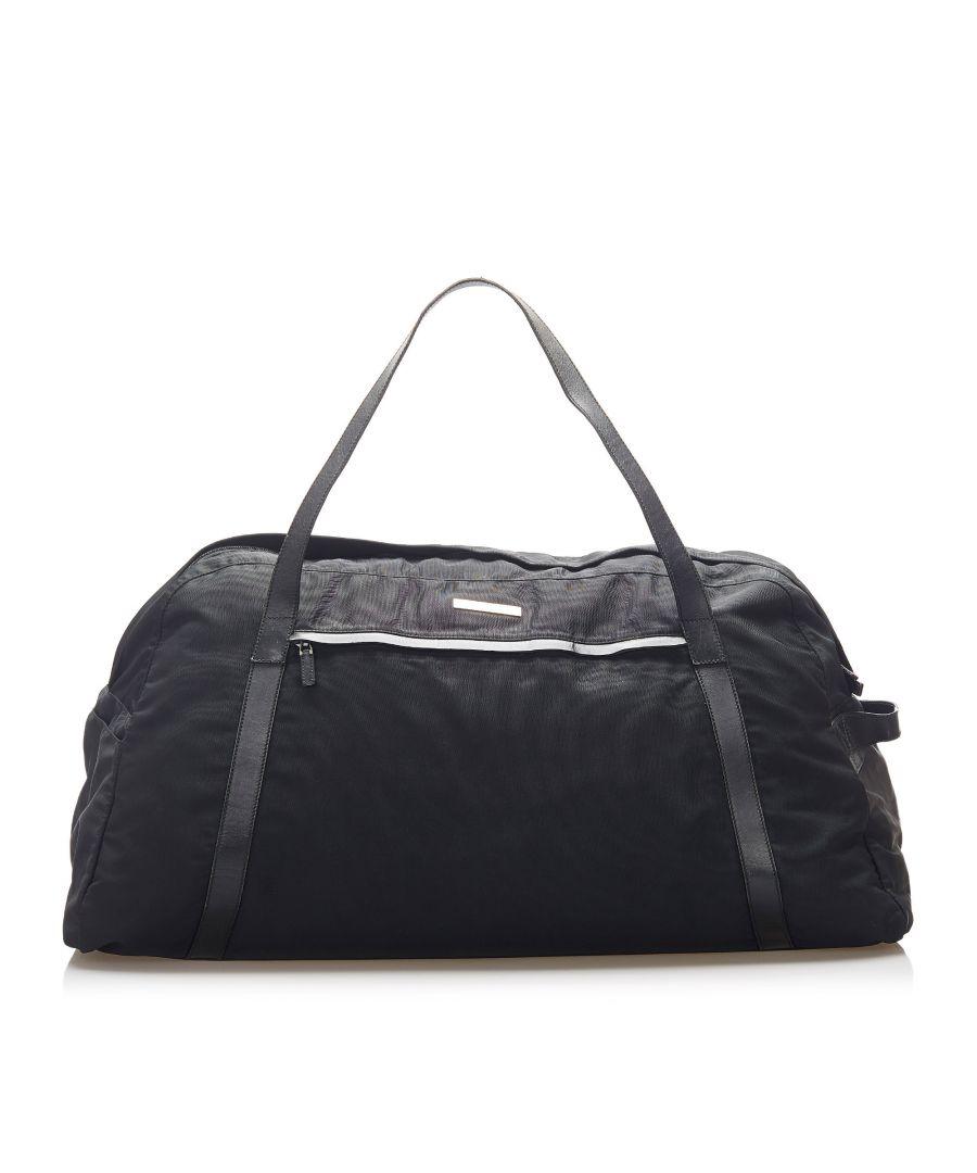 Image for Vintage Gucci Nylon Travel Bag Black