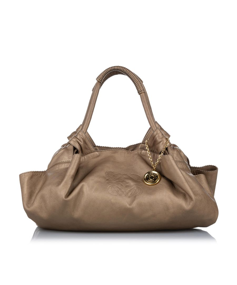 Image for Vintage Loewe Nappa Aire Leather Hobo Brown