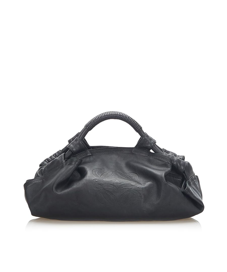 Image for Vintage Loewe Nappa Aire Leather Handbag Black