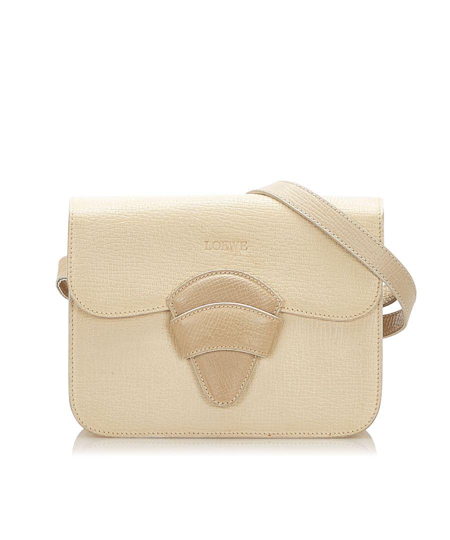 Image for Vintage Loewe Leather Crossbody Bag Brown