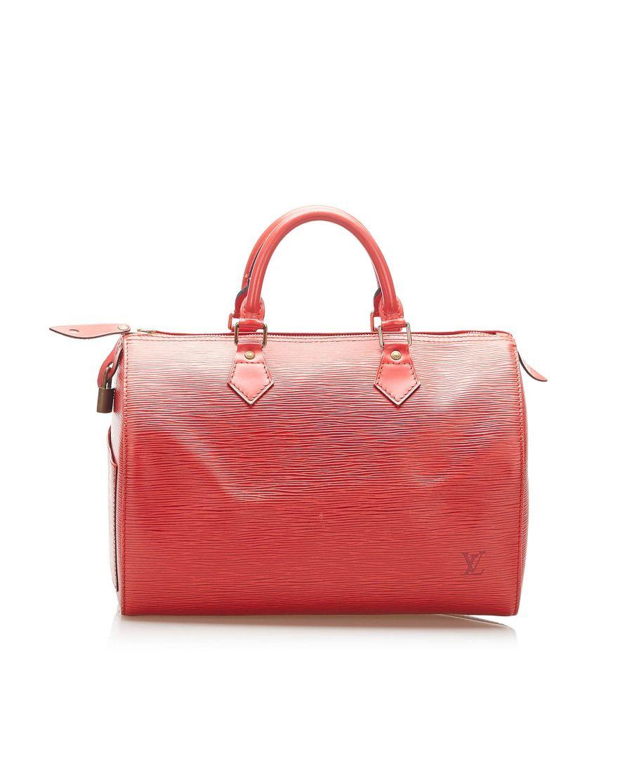 Image for Vintage Louis Vuitton Epi Speedy 25 Red