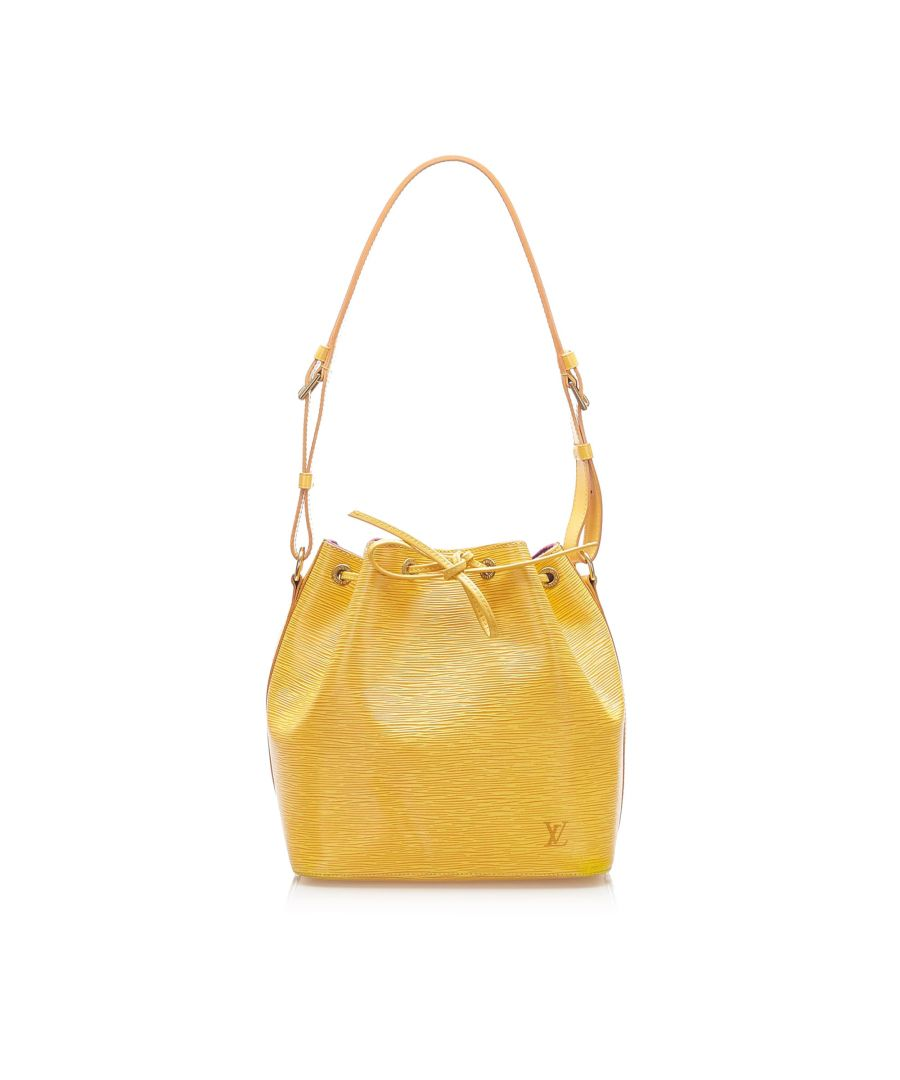 Image for Vintage Louis Vuitton Epi Petit Noe Yellow