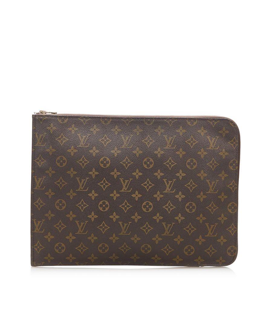 Image for Vintage Louis Vuitton Monogram Poche Document Brown