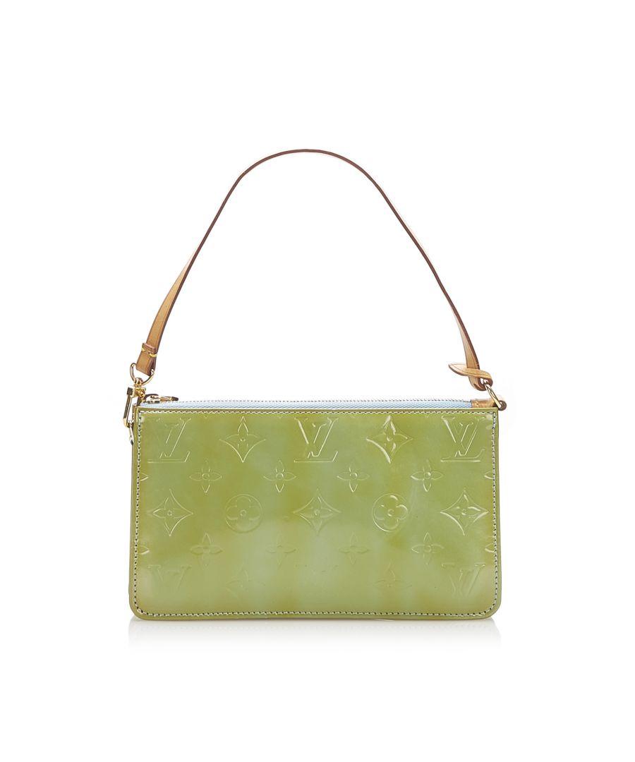 Image for Vintage Louis Vuitton Vernis Lexington Pochette Green