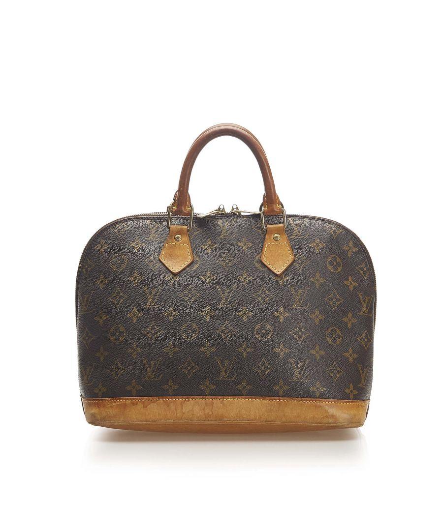 Image for Vintage Louis Vuitton Monogram Alma PM Brown