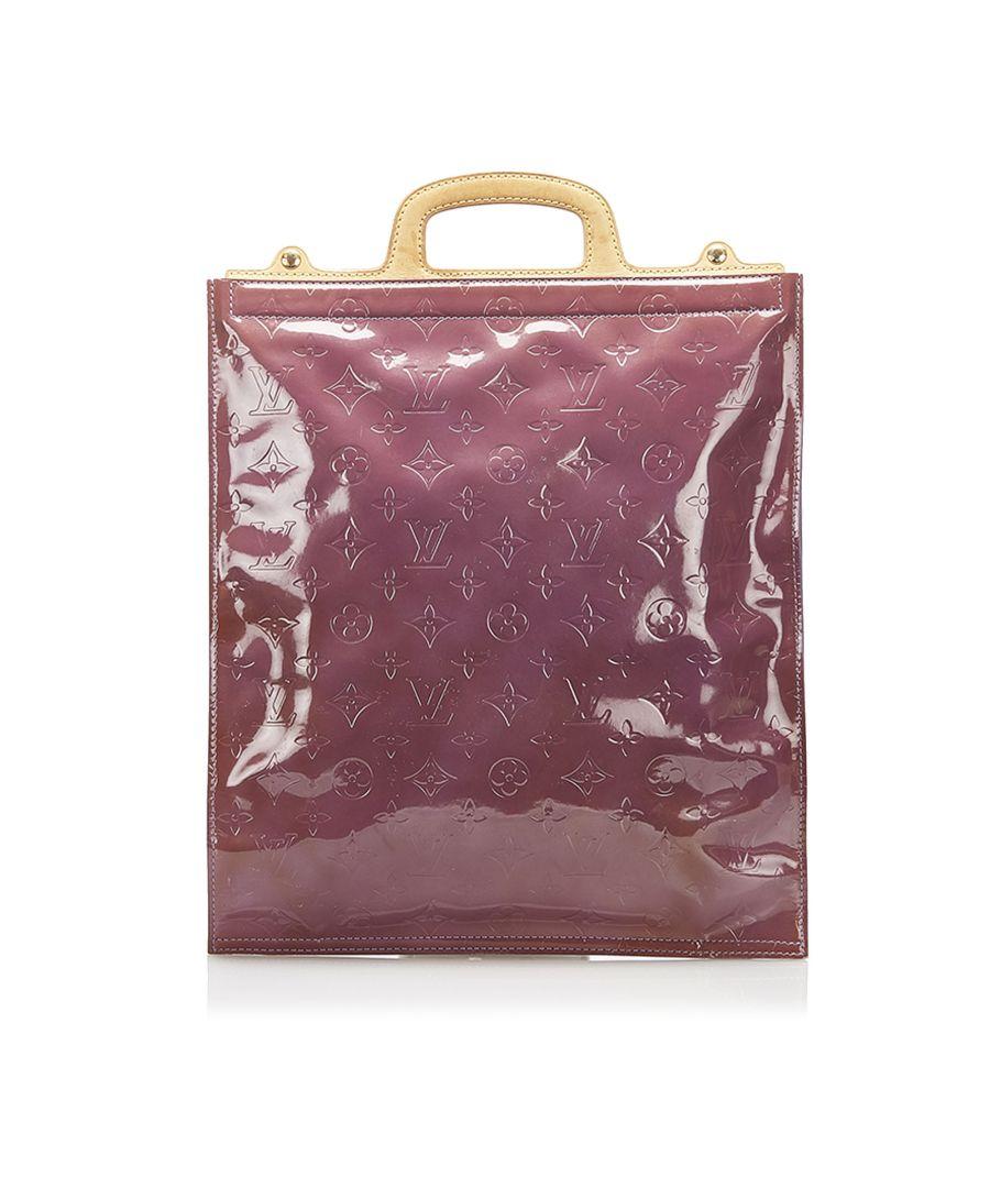Image for Vintage Louis Vuitton Monogram Vernis Stanton Purple