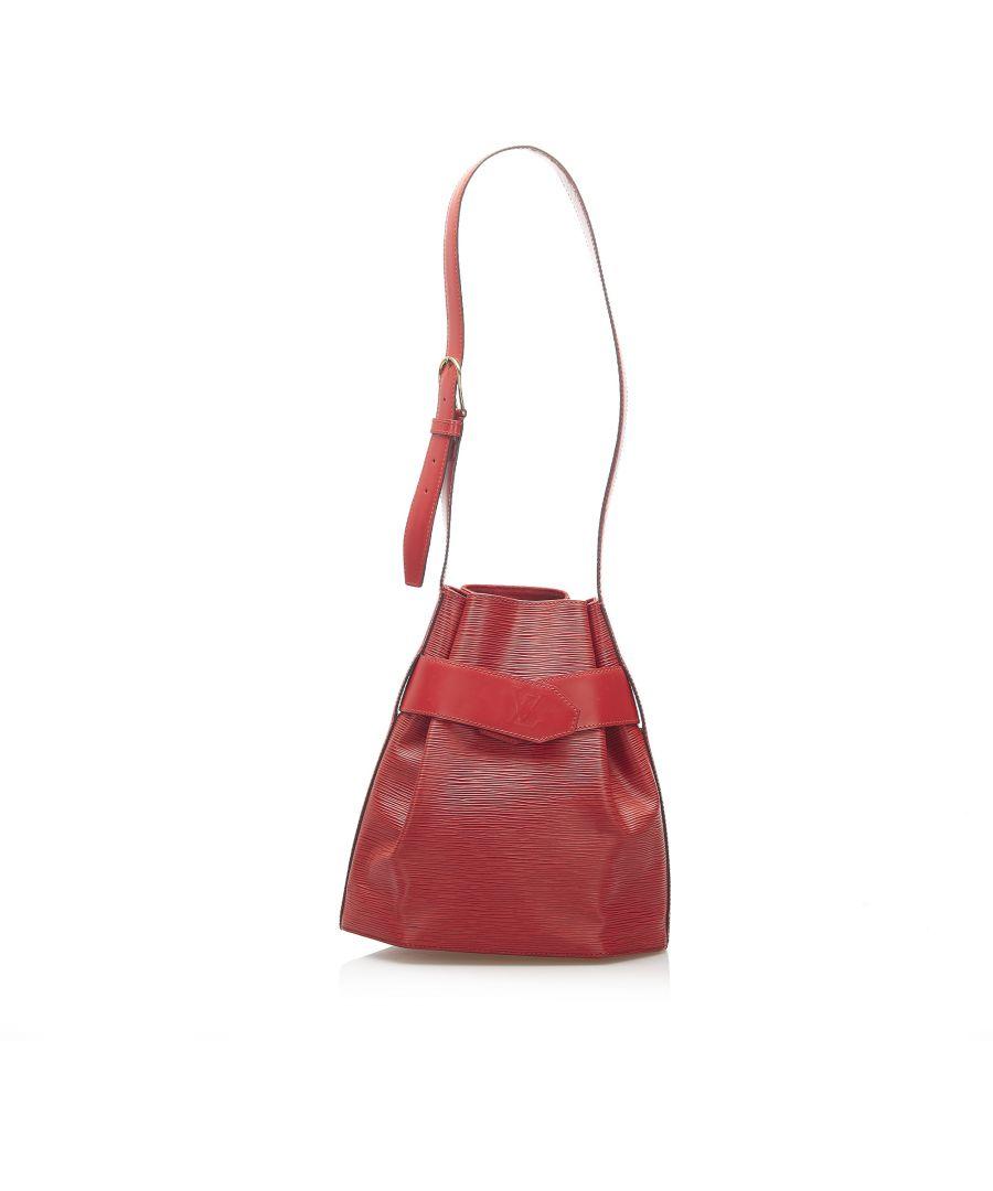 Image for Vintage Louis Vuitton Epi Sac dEpaule Red