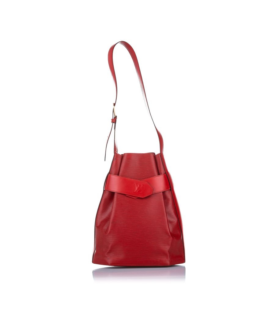 Image for Vintage Louis Vuitton Epi Sac dEpaule Red