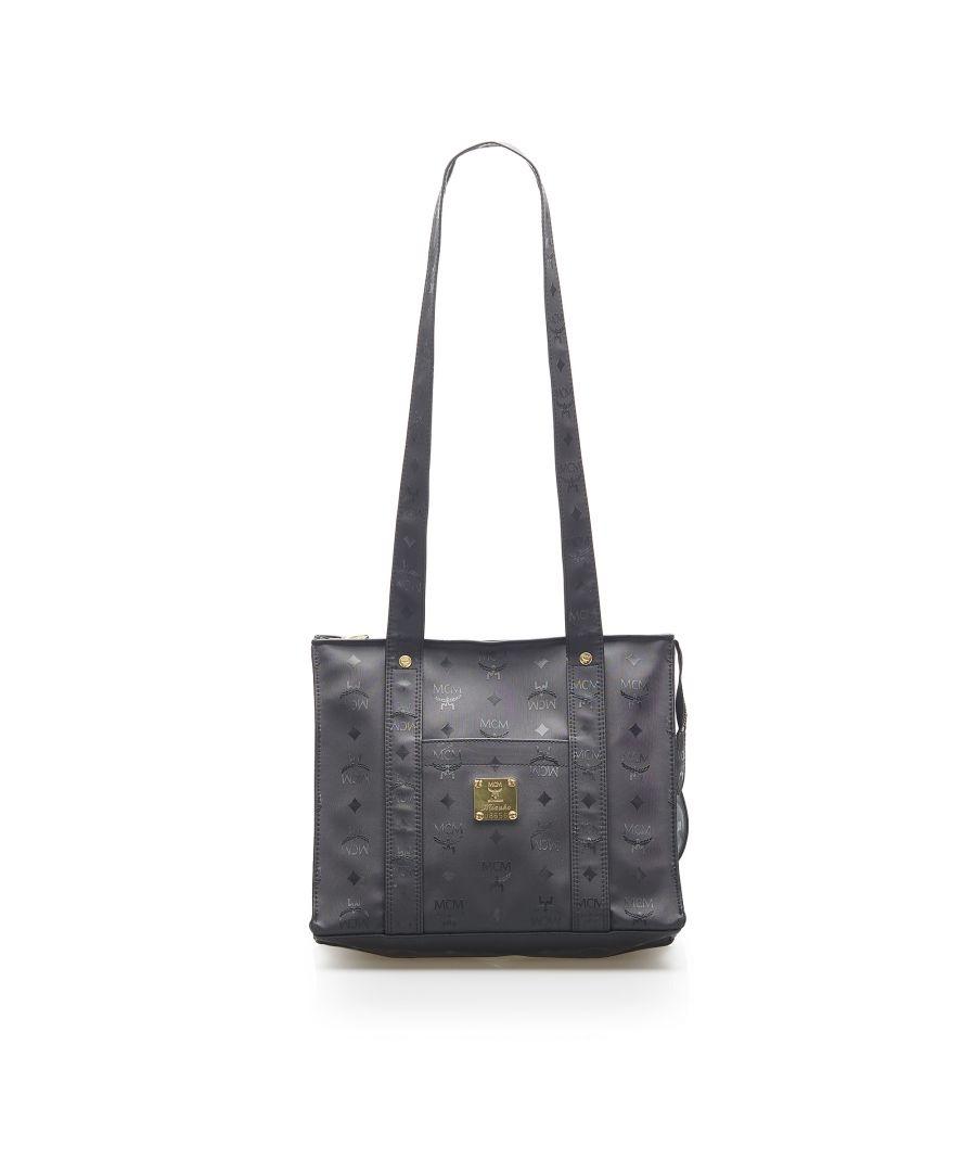 Image for Vintage MCM Visetos Shoulder Bag Black