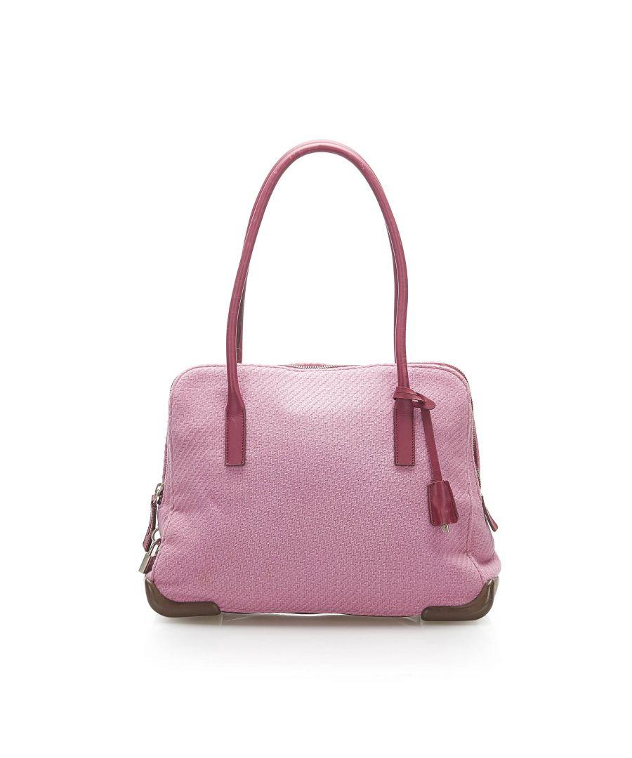 Image for Vintage Prada Canvas Handbag Pink