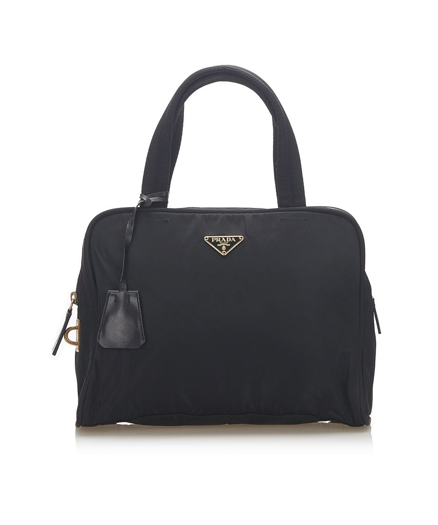 Image for Vintage Prada Tessuto Handbag Black