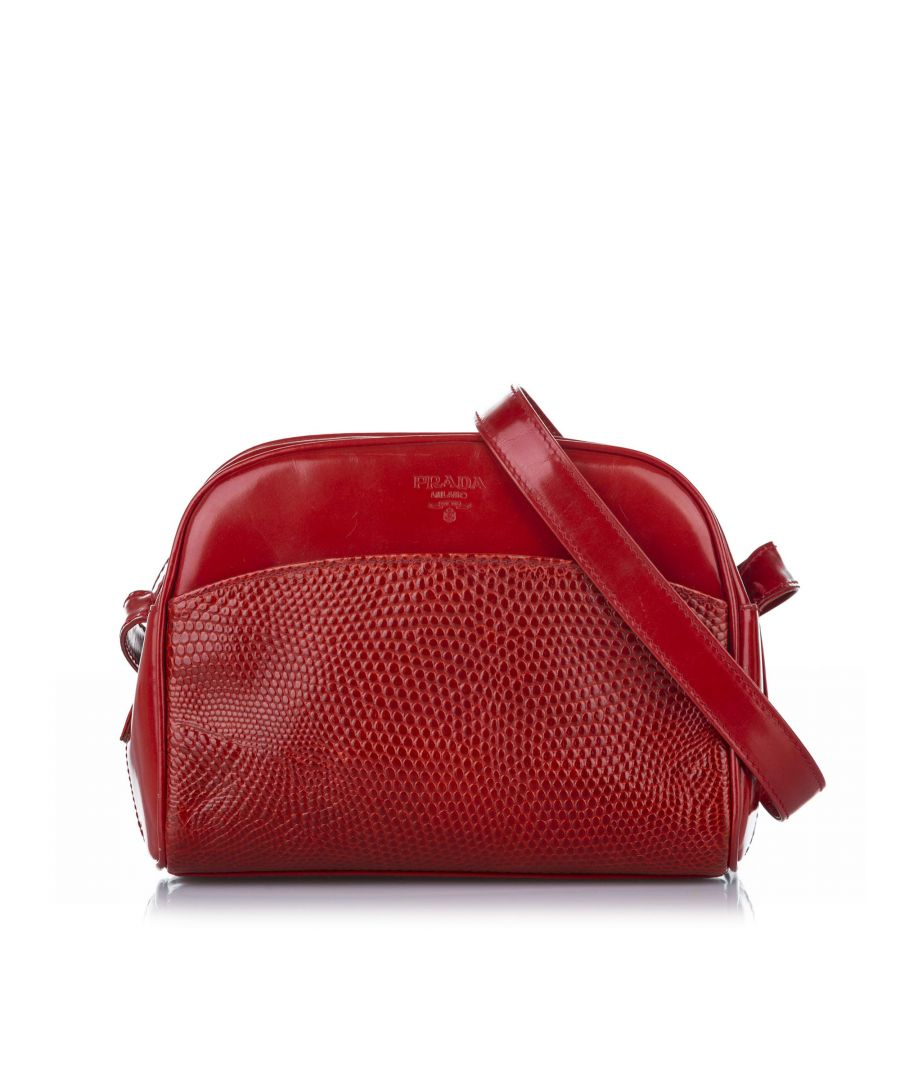 Image for Vintage Prada Leather Crossbody Red