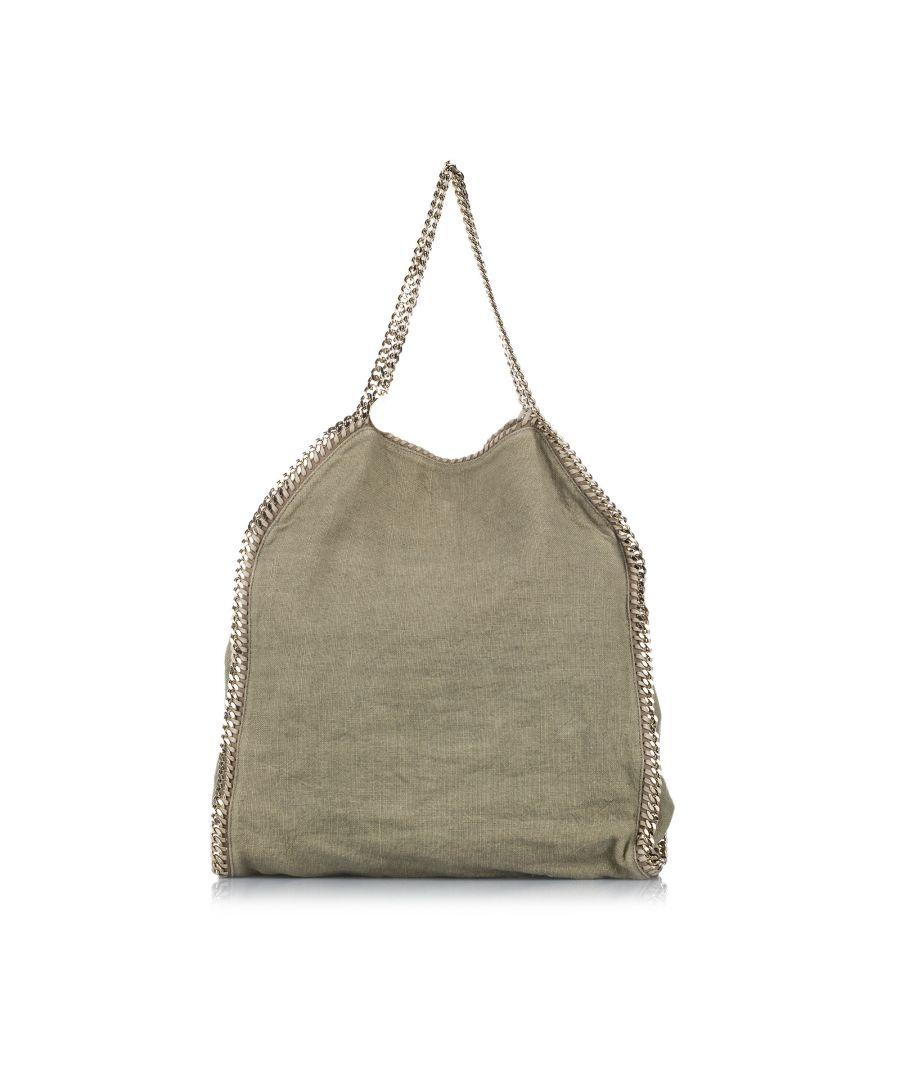 Image for Vintage Stella McCartney Falabella Fold-Over Canvas Tote Bag Brown
