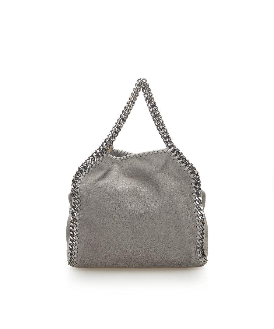 Image for Vintage Stella McCartney Falabella Fold-Over Tote Bag Gray