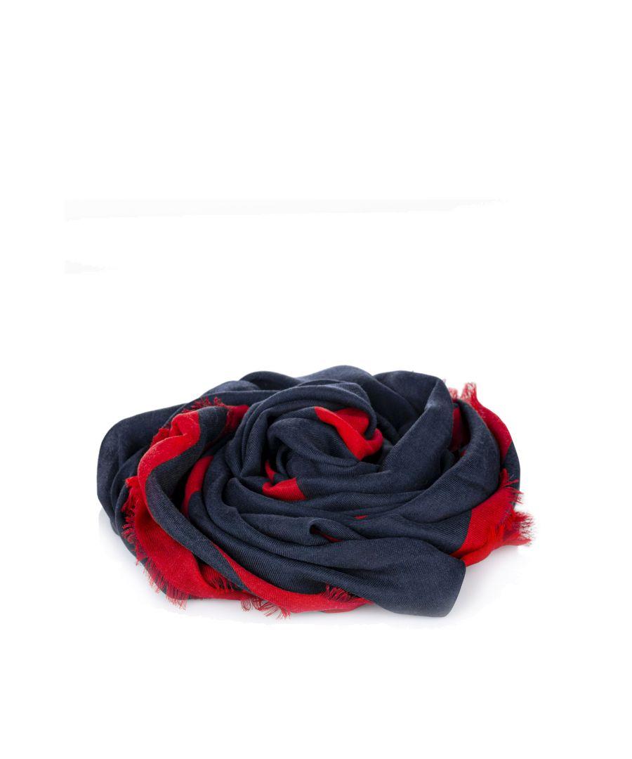Image for Vintage Valentino V Logo Scarf Blue
