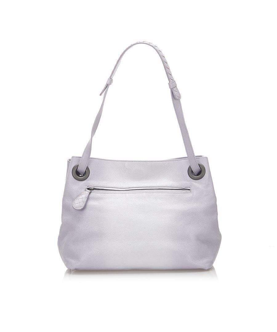 Image for Vintage Bottega Veneta Leather Handbag Purple