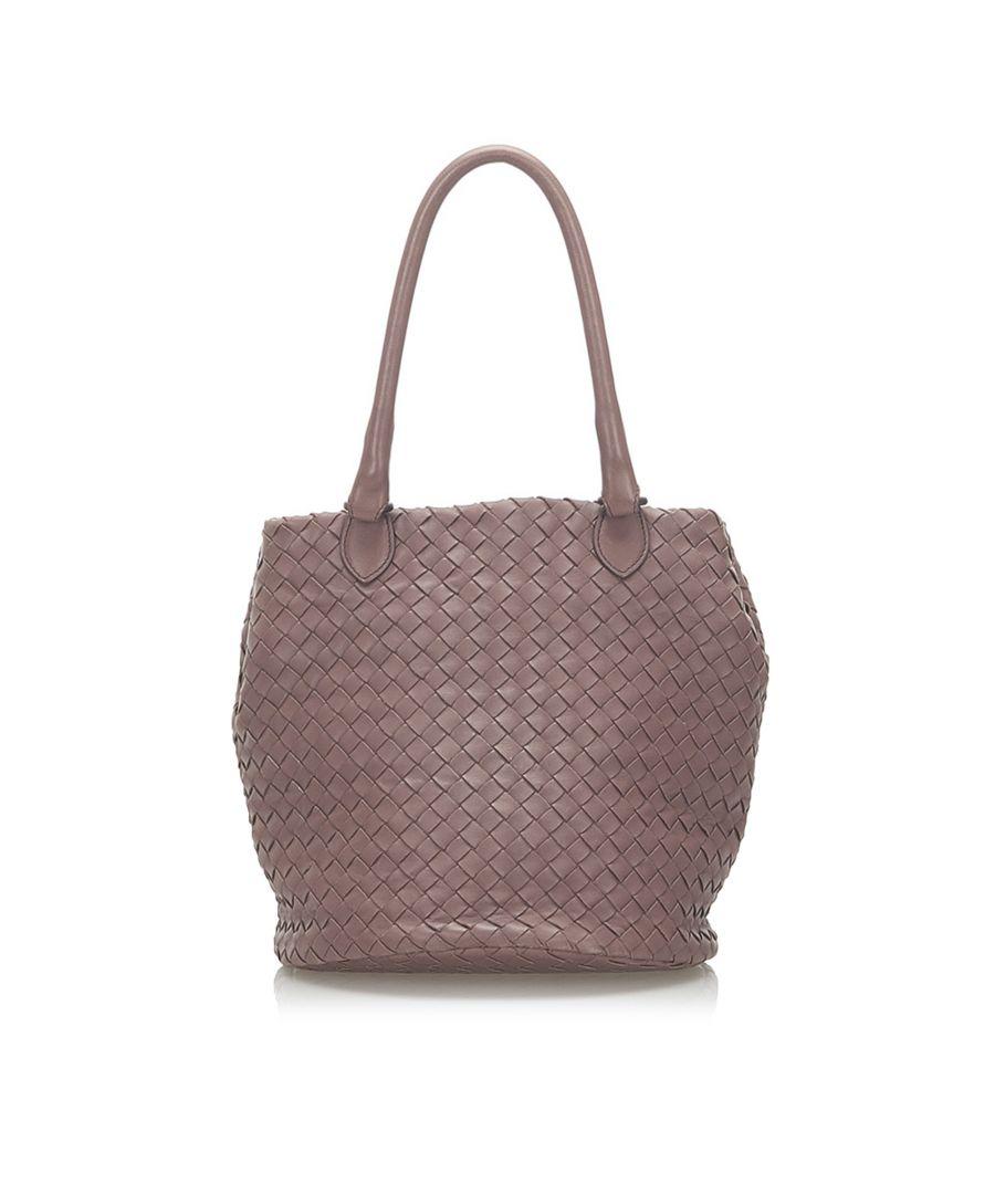 Image for Vintage Bottega Veneta Intrecciato Leather Handbag Purple