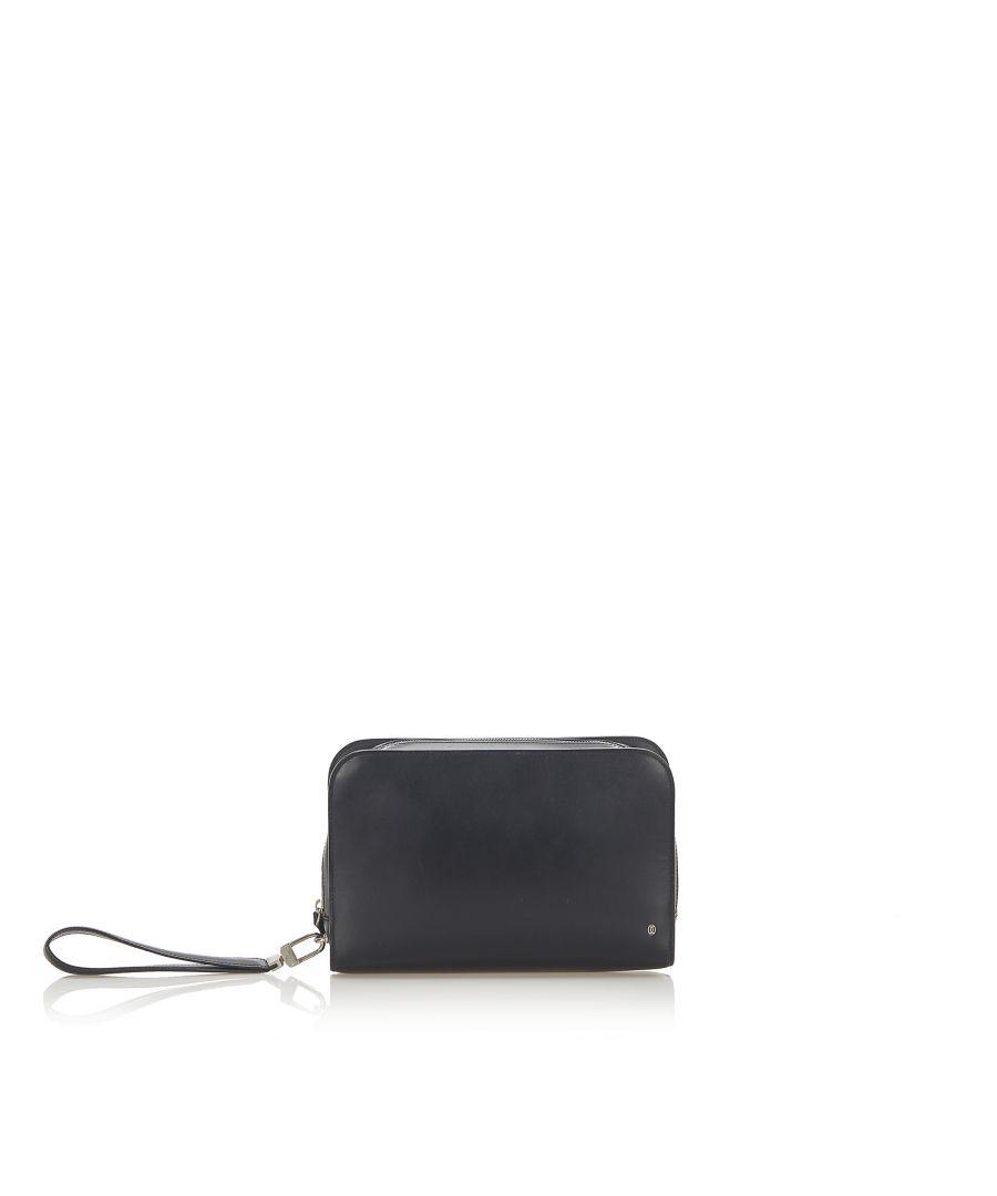 Image for Vintage Cartier Leather Clutch Black