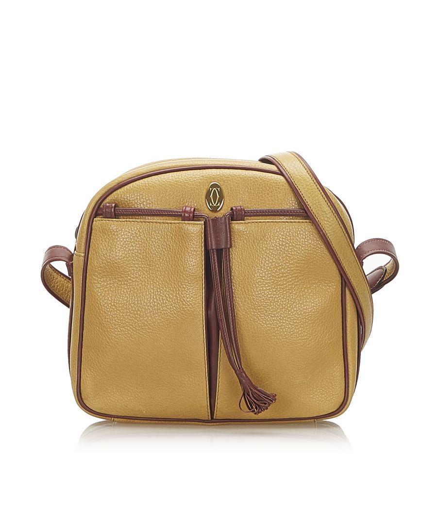 Image for Vintage Cartier Must de Cartier Leather Crossbody Bag Brown