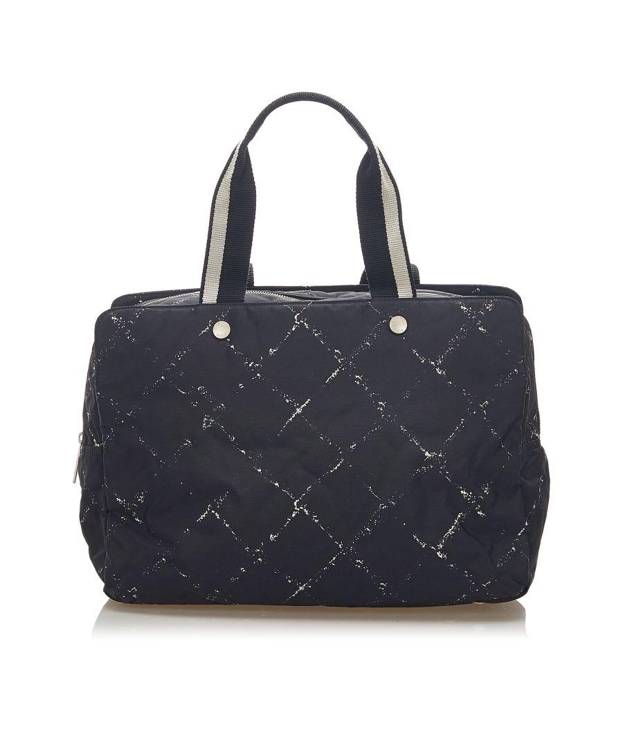 Image for Vintage Chanel Old Travel Line Nylon Travel Bag Black