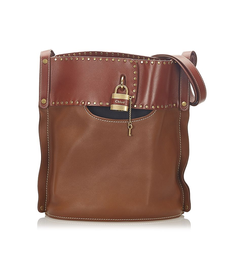 Image for Vintage Chloe Aby Leather Bucket Bag Brown