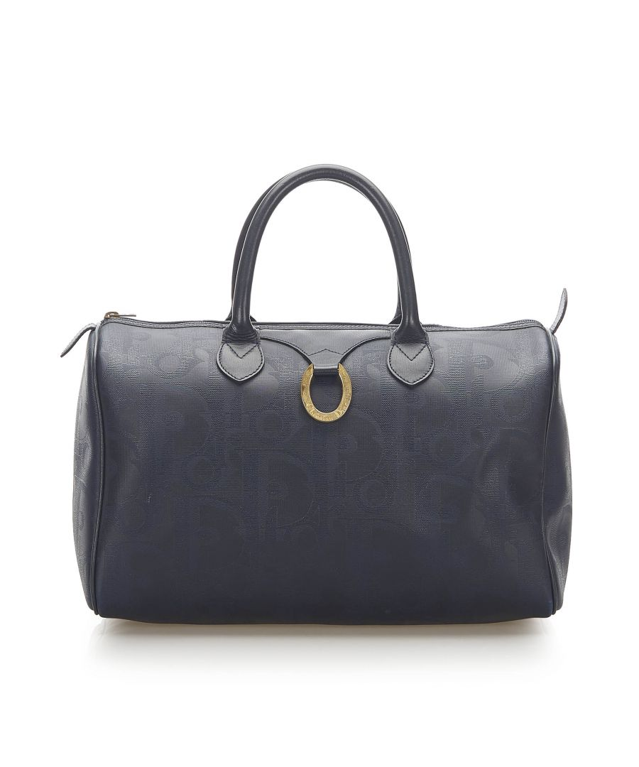 Image for Vintage Dior Dior Oblique Boston Bag Blue