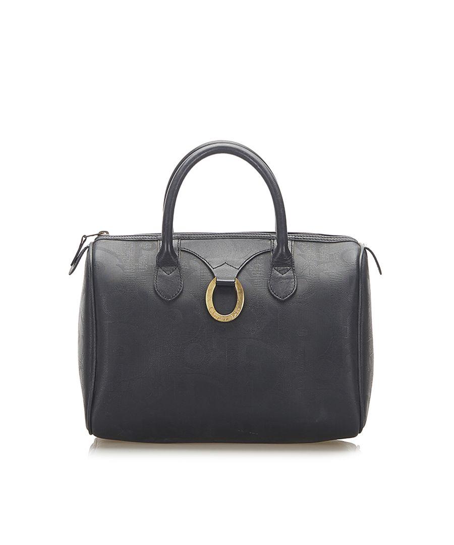 Image for Vintage Dior Dior Oblique Boston Bag Blue