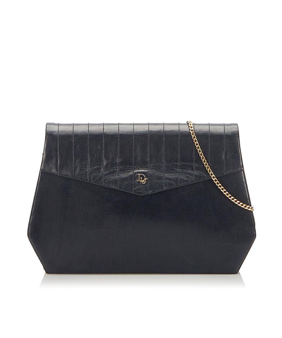 Image for Vintage Dior Leather Crossbody Bag Black