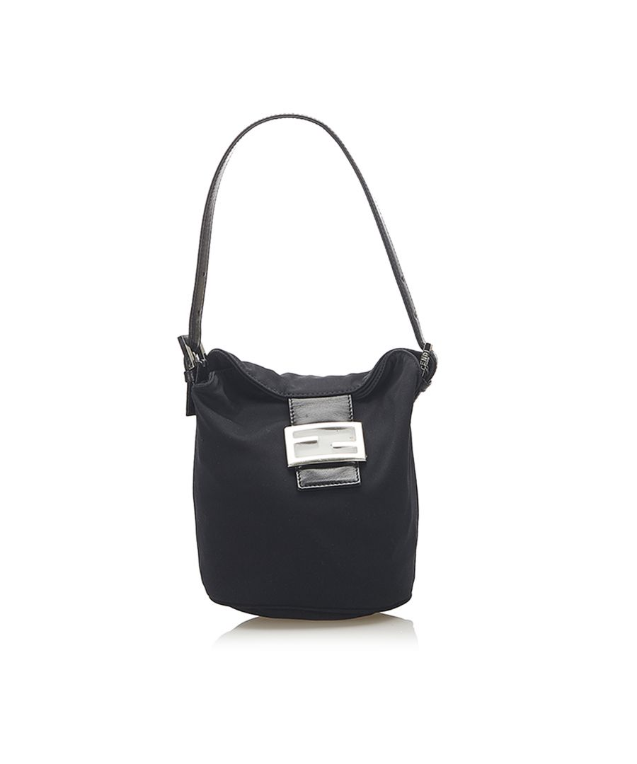 Image for Vintage Fendi Cotton Bucket Bag Black