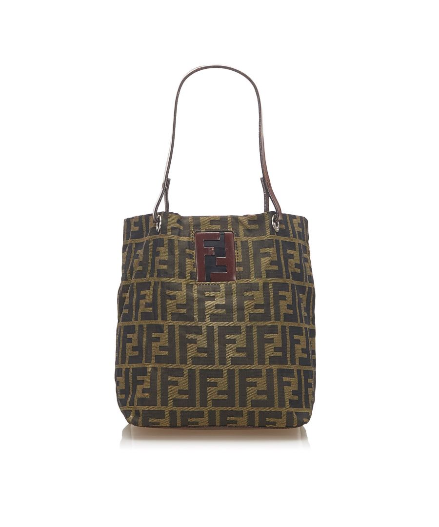 Image for Vintage Fendi Zucca Nylon Handbag Brown