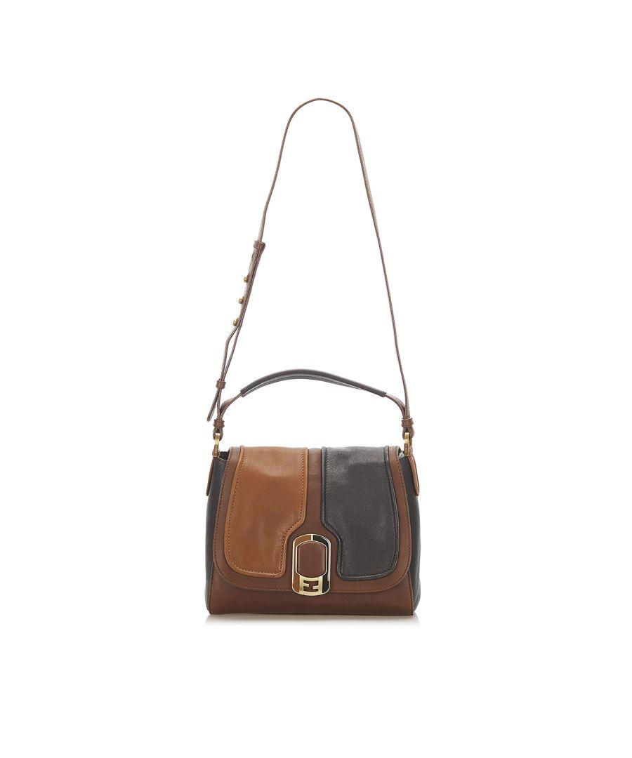 Image for Vintage Fendi Anna Leather Satchel Brown
